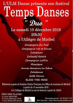 Festival Temps Danses 2016